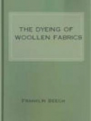 The Dyeing of Woollen Fabrics