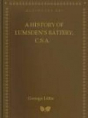 A History of Lumsden's Battery, C.S.A