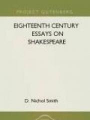 Eighteenth Century Essays on Shakespeare