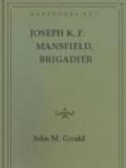 Joseph K. F. Mansfield, Brigadier General of the U.S. Army