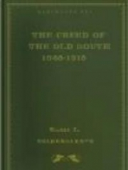 The Creed of the Old South 1865-1915