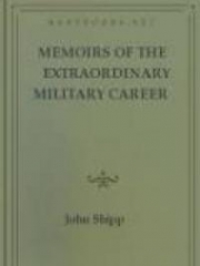 Memoirs of the Extraordinary Military Career of John Shipp