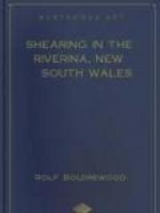 Shearing in the Riverina