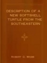 Description of a New Softshell Turtle From the Southeastern United States