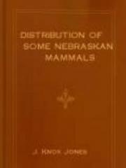 Distribution of Some Nebraskan Mammals