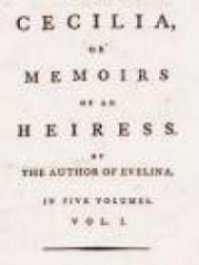 Cecilia; Or, Memoirs of an Heiress