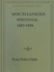 Miscellaneous Writings, 1883-1896