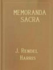 Memoranda Sacra