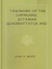 Taxonomy of the Chipmunks, Eutamias quadrivittatus and Eutamias umbrinus