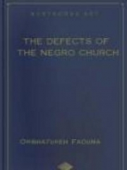 The Defects of the Negro Church