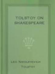 Tolstoy On Shakespeare